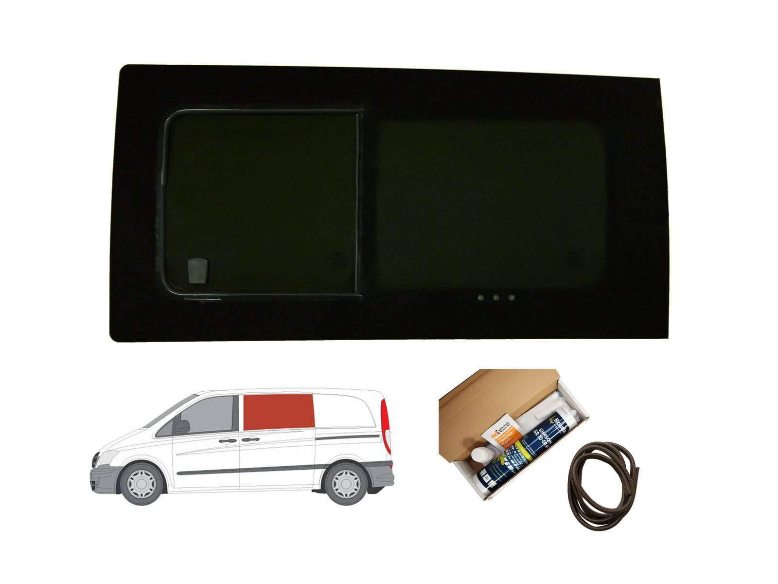 Mano izquierda ventana abatible para puerta corredera, tintado oscuro para Mercedes Vito (2003 – 2014): Amazon.es: Coche y moto