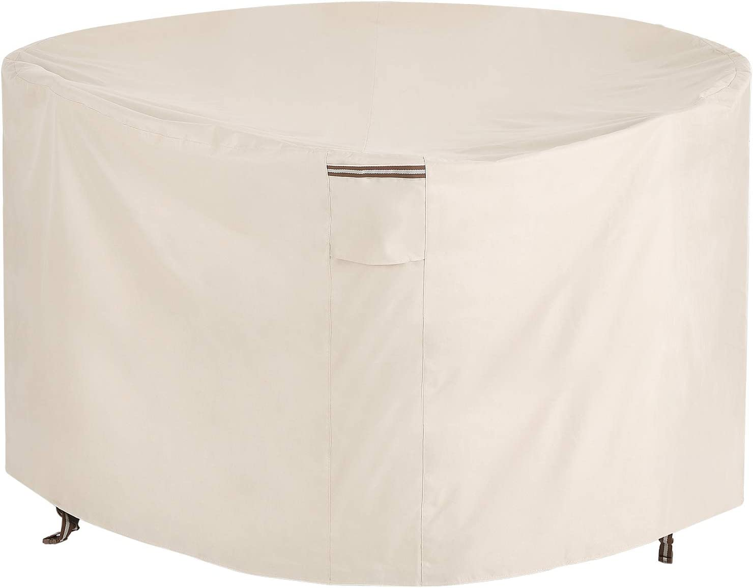 SONGMICS Tucson Mall Fire Pit Cover 600D Memphis Mall Round Tabl Oxford Fabric