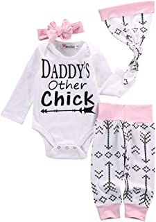 Emmababy Newborn Girls Clothes Baby Romper Outfit Pants Set Long Sleeve Toddler Infant Summer Clothing