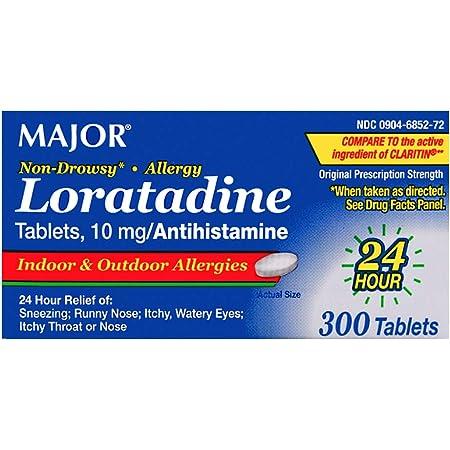Major Allergy Loratadine 10mg, 300 Tablets
