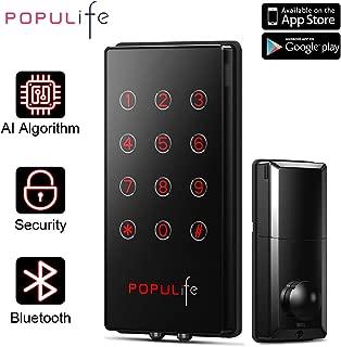 PopuLife Smart KeylessEntry Deadbolt IP65WaterproofElectronicDoorLocks,WorkwitheKeys,PINCode, AlexaandGoogleAssistant,PerfectforHome/Business/Property/Hotel