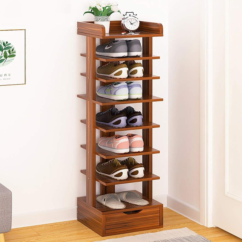 4 5 6 7 8-layer shoes Rack Shelf Flower Stand Bookshelf Storage Shelf shoes Cabinet Multifunction Household Doorway Entrance Living Room Space Saving (color   C, Size   27  24  122CM)