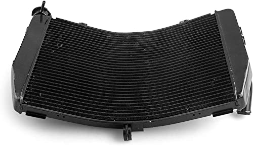 high quality Mallofusa 2021 Motorcycle Aluminum Radiator Cooling Cooler Compatible for wholesale Yamaha YZF R1 2007 2008 Black outlet online sale