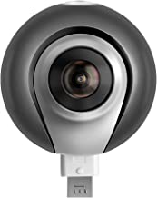 YUNTAB Q3S Dual 360 Degree Panoramic Camera 1080P Video F2.4 Aperture VR Camera Compatible to Micro USB and Type-C for Android Phone(Q3S-Black)