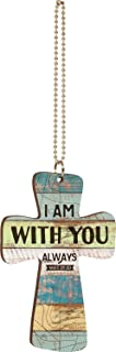 P. Graham Dunn I Am with You Always Map Multicolor Vintage Wood Look Wood Car Charm