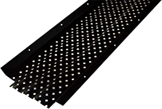 Spectra Metal Sales 6EGRTBK25 Armour Shield Gutter Guard, Corrosive Resistant Aluminum with Dura-Ridge Airflow System to Maximize Leaf Removal, 6
