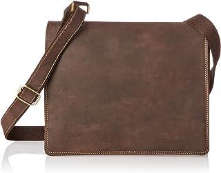 Visconti Harvard Distressed Leather Messenger Bag