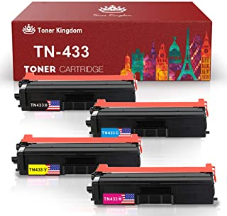 Toner Kingdom Compatible Toner Cartridge Replacement for Brother TN-433 TN433 TN431 for HL L8360CDW MFC L8900CDW MFC L8610CDW MFC L8260CDW Color Laser All-in-One TN433 TN431 Printer - 4 Pack