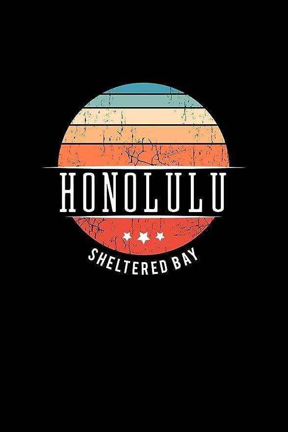 見込みスカウト松の木Honolulu Sheltered Bay: Vintage City Trip Souvenir Blank Journal Notebook
