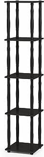 Furinno 18033EX/BK Turn-N-Tube Rack, Classic, Espresso/Black