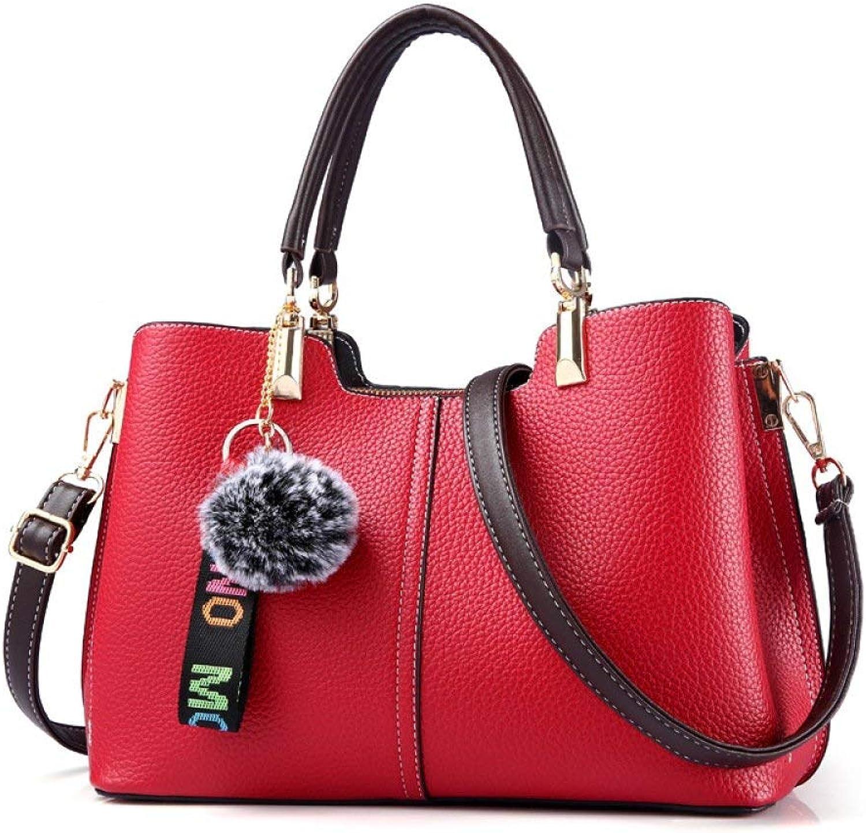 Ladies Handbag New Wave Packet Messenger Bag Ladies Handbag Female Bag Handbags for Women (color   Red, Size   One Size)