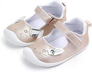 Lacofia Bailarinas bebé niña Zapatos Antideslizantes Primeros Pasos para bebé niñas con Suela