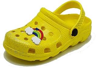 The Right Pair Toddler Girls Glitter Clogs Cute Cartoon Slide Sandals Kids Beach Summer Mules Slipper Shoes