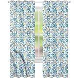 Cortinas para sala de estar con estrellas de mar marítimas conchas de mar W42 x L72 cortina de reducción de ruido
