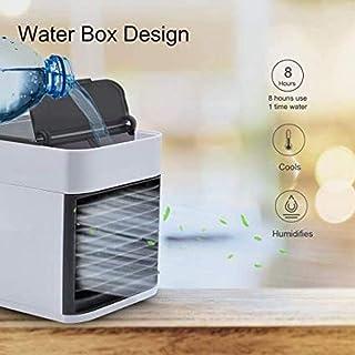 Mini refrigerador de Aire Acondicionado 3 en 1 Enfriadores evaporativos Humidificador con USB 7 Colores LED Noche 3 velocidades Ventilador para Oficina en casa Q