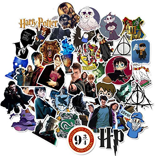 50 Pegatinas de Harry Potter Pegatinas de Juguete de Dibujos Animados monopatín Guitarra Maleta PVC Pegatinas Impermeables no se repiten