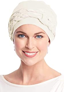 Double Braid Turban Set - All Cotton 2 pc Chemo Cancer Turbans for Women