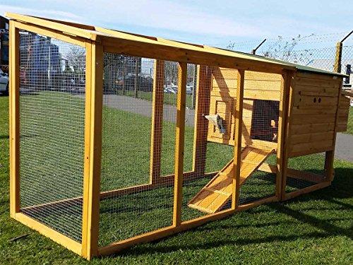 Hühnerstall Hühnerhaus Cocoon Hühnerstall Grosser Hühnerstall 4-6 Hühner mit Nistkasten aufmachbarem Dach für einfache Reinigung, mit Lüftungslöchern, mit stabilen Nistkasten, 30 % größer als Vorläufermodell (3000WX), ca. 250 cm - 2