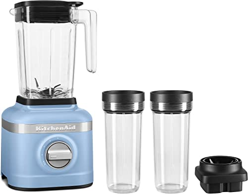high quality KitchenAid KSB1332VB 48oz, 3 Speed new arrival Ice Crushing Blender with high quality 2 x 16oz Personal Jars to Blend and Go, Velvet Blue sale
