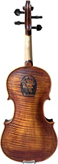 Sponsored Ad - Guanbao Antique Violin Outfit 4/4 Full Size with Ebony Fittings, Solid Maple Wood/Accessories including Cas...