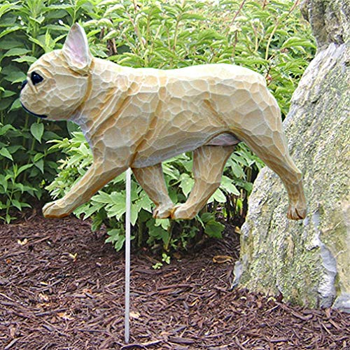 Ky & Co YesKela French Bulldog Outdoor Garden Dog Sign Hand Painted Figure Fawn