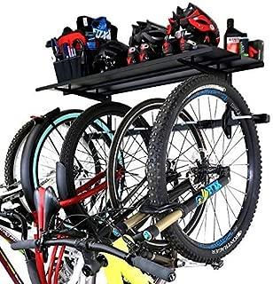 StoreYourBoard Omni Bike Rack and Storage Shelf, Holds 5 Bicycles, Garage Adjustable Bike Wall Mount