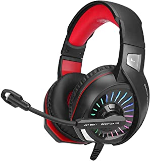Gaming Headset with RGB light GH-890 and noise reduction for Smartphone, PC, Playstation, cable 2.2m