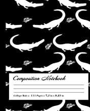 Aligator Composition Notebook: Wide-Ruled, 7.5 x 9.25, 100 Pages, For kids, teens, and adults, Animals ,Aligator