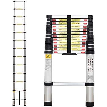 Sotech - Escalera Plegable, Escalera Telescópica, 3,8 Metro(s), EN 131, Carga máxima: 150 kg, Estándar/Certificación: EN131: Amazon.es: Bricolaje y herramientas
