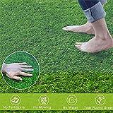 TPLIK Césped Artificial de Rodillos, Interiores Exterior Estera Verde de césped sintético de Espesor Realista sintético Césped Artificial Grass and Sweet,1x2m/3x6ft
