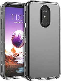 LG Stylo 4 Case,SKYLMW Clear Heavy Duty Case Three Layer Hybrid Sturdy Shockproof Armor High Impact Resistant Protective Cover Case LG Stylo 4, Clear