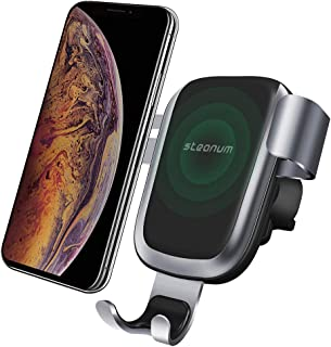 Wireless Car Charger,Steanum Car Fast Wireless Charger Car Mount Air Vent Phone Holder Compatible for iPhone Xs Max/Xs/Xr/X/8/8+,Galaxy S9/S9+/S8/S8+/S7/S6 Edge/Note8/5&More 2019