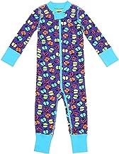 Moodie 2-Way Zip Up Onesie Romper, Girls Purple Ladybug Coverall (Infant - 24m)