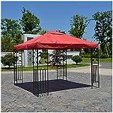 Ersatzdach Für Pavillon, Pavillon Abdeckung, Pavillon Zeltplane Gartenplane 3x3m, Wasserdicht, Für Gartencamping Im Freien (Weinrot)