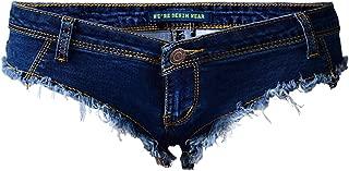 Cresay Women Sexy Thong Cheeky Jeans Shorts Mini Hot Pants