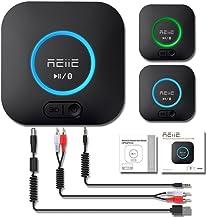 REIIE Receptor Bluetooth, Adaptador de Audio Inalámbrico Hi-Fi, B06 Adaptador Bluetooth 4.2 con 3D Surround aptX Baja latencia para Sonido en Streaming. Chip avanzado CRS Bluetooth 4.2