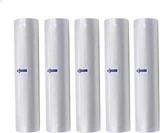 Vacuum Sealer Rolls, 5 Rolls Food Storage Saver Bag Roll, for Vacuum Sealer Vacuum Packaging Bag 32cm*500cm (Color : Clear)