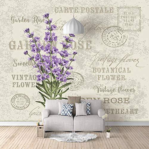 Wandbild Tapete - Umschlag Lavendel - Tapete Fototapeten Vliestapete Wandtapete moderne Wandbild Wand Schlafzimmer Wohnzimmer-200X140cm (78X55 inch)