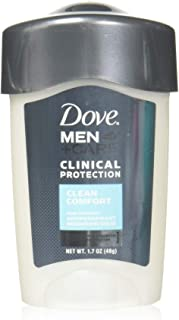 Dove Men + Care Clinical Protection Antiperspirant Deodorant Solid Clean Comfort 1.70 oz (Pack of 6)