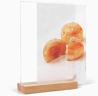 Winwinfly A6 Support de panneau acrylique A6 Présentoirs en plastique Support de menu double face pour tables, présentoir ...
