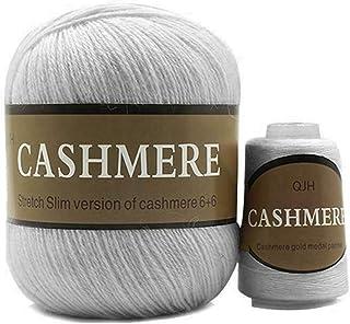 Buhui - Gomitolo di filato per lavori a maglia e uncinetto, in cashmere mongolo, per lavori a maglia, per sciarpa, 50 più ...