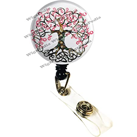 OOAK Pink Tropical Do what you Love Jewelry Re-Mixed Media ~ Retractable Reel ID Badge Holder You pick reel style