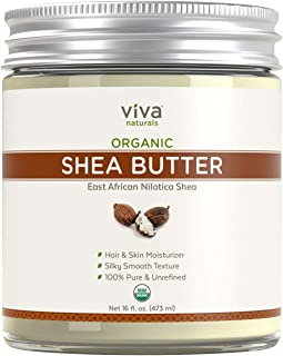Viva Naturals, Organic Shea Butter, Raw and Unrefined, Skin Moisturizer, Perfect for All DIY Recipes (16 oz)