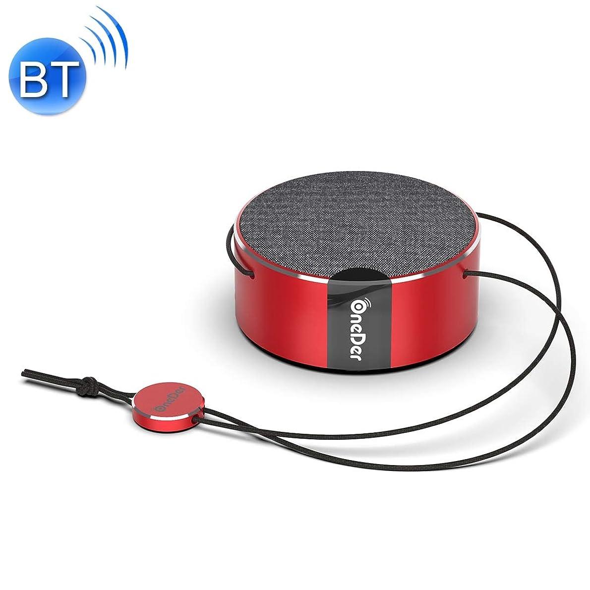 ストラトフォードオンエイボン計算する連続的Eryanone ストラップ付きサポートハンズフリー(ピンク)新しい、V12ミニスカートラジオのBluetoothスピーカー (色 : Red)