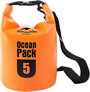 NatureHike(ネイチャーハイク) プールバッグ ウォータープルーフ マリンバッグ ストラップ付 [500D] 5L 【正規品】 オレンジ FS15M005-J