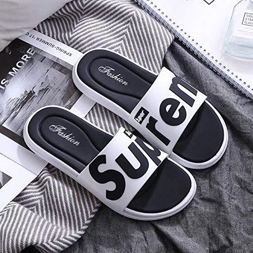 YYFF Planas Caminar Ortopedicas Zapatos,Sandalias de Playa de Moda,Ocio al Aire Libre Flip-Flops-White_42 / 43,Sandalias Hombre