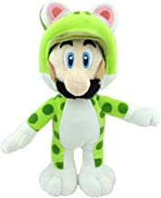 "Super Mario Bros 3D World Cat Luigi Green Suit Soft Plush Toy Stuffed Animal 9"""