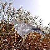 Señuelo de paloma, con alas de giro impulsadas por el viento para decoración de jardín, señuelos, caza de señuelos, pájaro, accesorio de caza y disparo, señuelo de pájaro