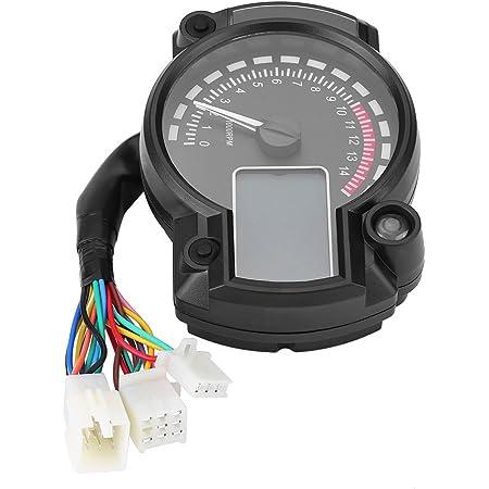 Qiilu Universal Motorrad Digital Bunte Lcd Tacho Kilometerzähler Tachometer W Geschwindigkeitssensor Auto