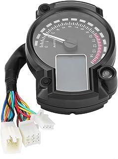 Qiilu Universal Motorcycle Digital Colorful LCD Velocímetro Cuentakilómetros Tacómetro con Sensor de Velocidad